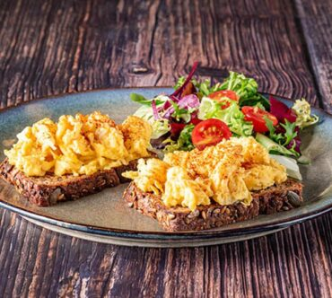 Scrambled Eggs On Toast On Protein Bread